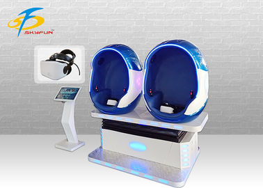 Immersive VR Double Seat Egg Cinema Helmet 90 Pcs Movies And Games 9D VR Machine